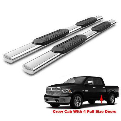 "5"" Side Step Nerf Bar Running Boards For 09-18 Ram 1500 10-18 2500/3500 Crew Cab"