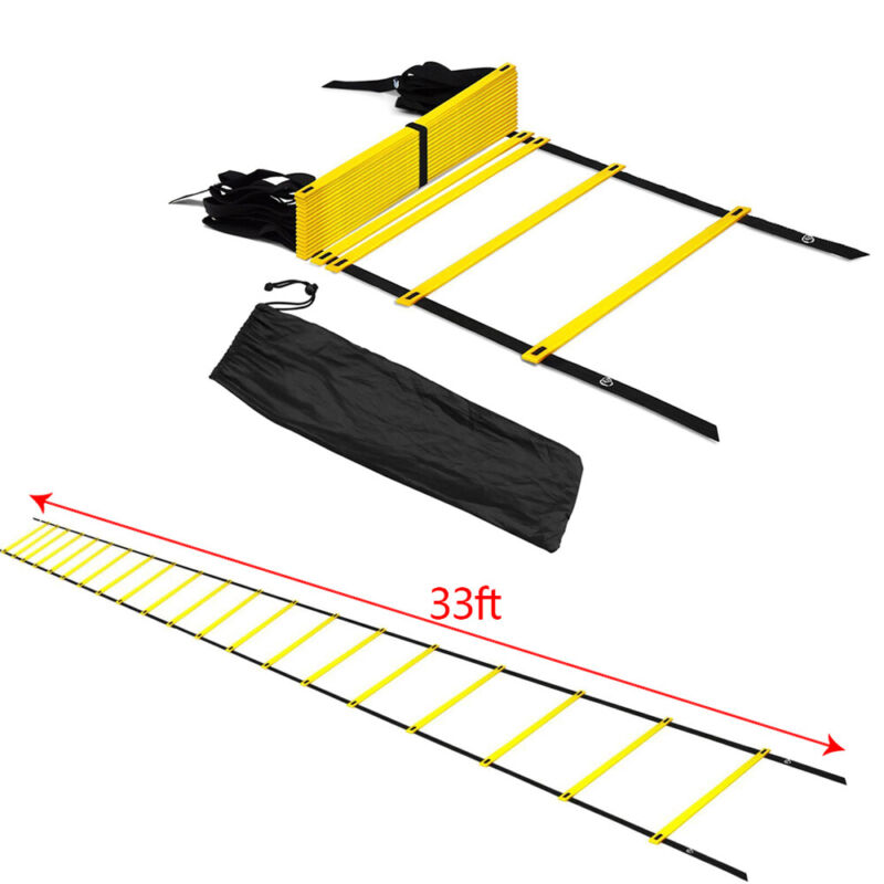 20 Rung Agility Ladder Soccer Speed Football Fitness Feet Training Exercise Aids