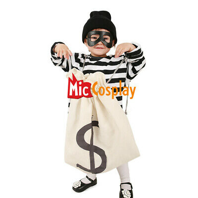 Kids Robber Costume (Kids Burglar Robber Halloween Costume Hat Mask)