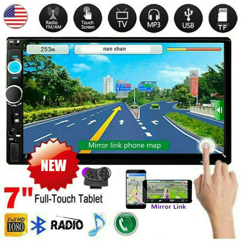 """7"""" Inch Car Stereo Radio HD MP5 Player 2DIN Touch Screen Blu"""