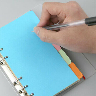 Colorful A5 Index Page Binders Card Paper Tab Dividers Lables Document Organiser