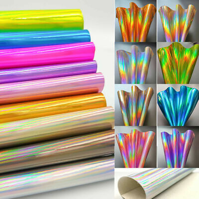 Laser Holographic Rainbow PU Leather Fabric For Sewing Bag Clothing Material DIY - Lights For Clothing