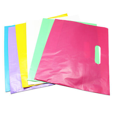 Colorful Plastic Shopping Bags With Handle Boutique Clothes Gift Packaging Bag - Plastic Bags With Handles