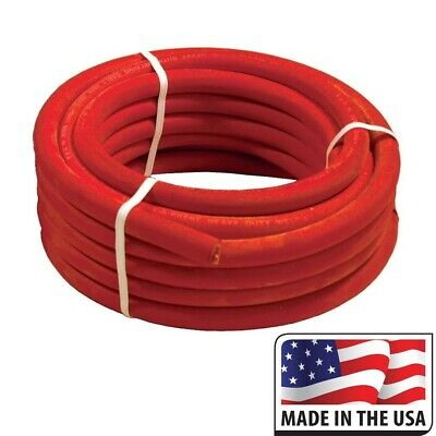 100 Foot Of Red 10 Direct Flex-a-prene Welding Battery Cable Made In Usa