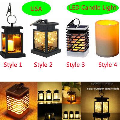 Solar LED Candle Light Flickering Home Garden Decorative Lamp  Waterproof