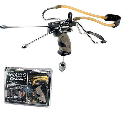 Barnett PRO DIABLO 2 Slingshot Catapult With Sights & Stabilisers + FREE Ammo