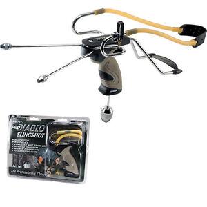 Barnett PRO DIABLO 2 Slingshot Catapult With Sights & Stabilisers + FREE Ammo
