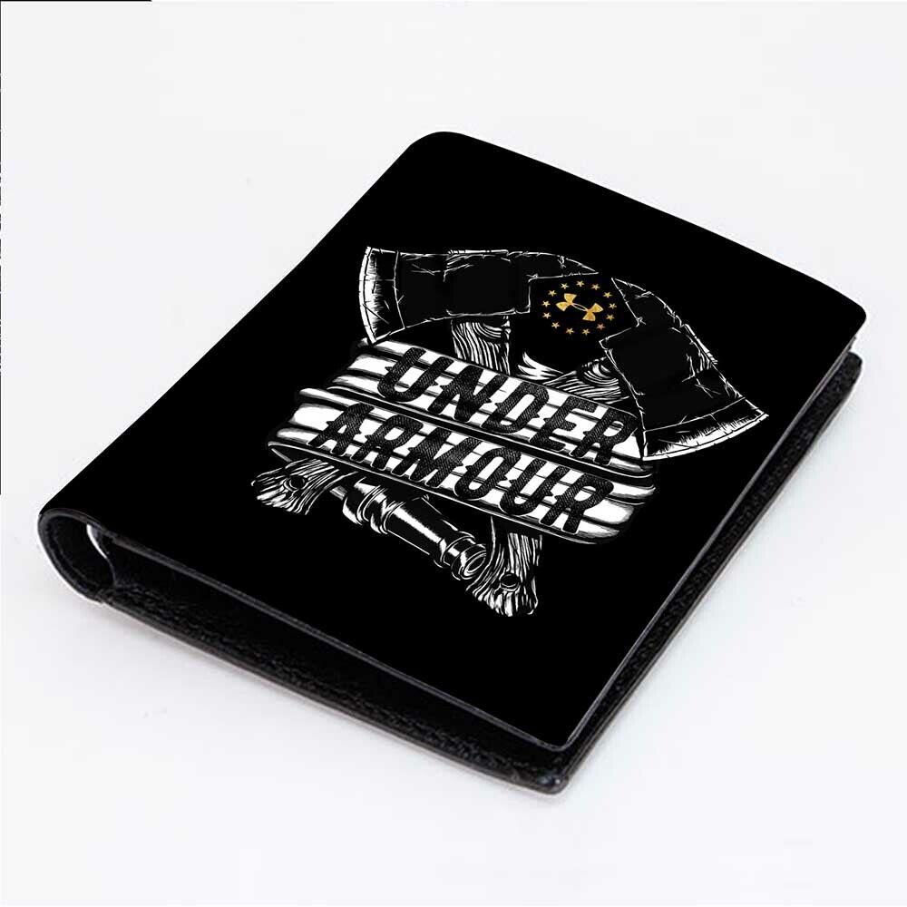 UNDER ARMOUR FREEDOM Men's Wallet Black Leather Custom Money
