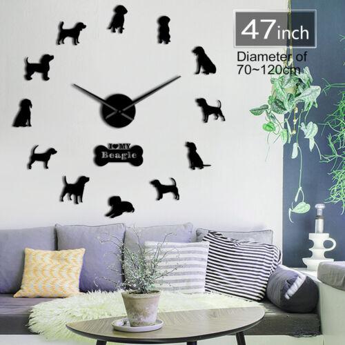 Marshall Beagle Oversized DIY Wall Clock For Dog Lovers Batt
