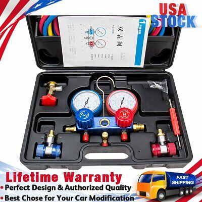 Air Conditioner Refrigeration Kit Hvac Manifold Gauge Set R22 R134a 410a Kit