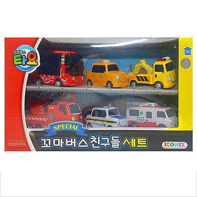 TAYO the Little Bus Friends 6 Cars A Set Toy Children