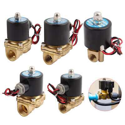 2 Way Solenoid Valve Air Water Gas Oil Brass Normally Closed 12v 24v 240v Acdc