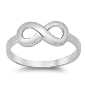 plain infinity symbol 925 sterling silver ring sizes 3 12
