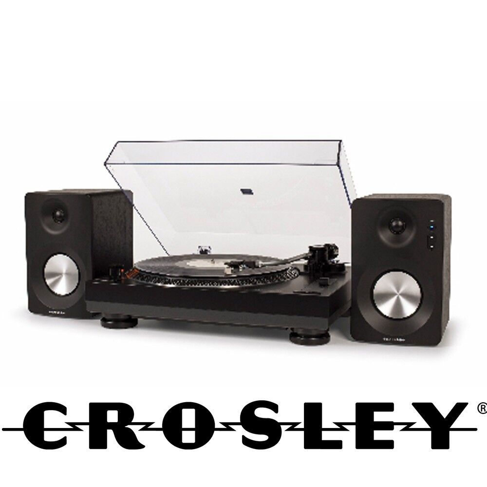 Stereo Turntable System in Black