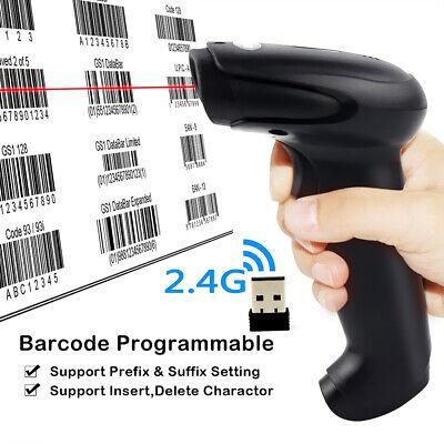 2020 2.4ghz Handheld Wireless Laser Cordless Barcode Scanner Scan Gun Reader Us