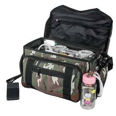 Us Portable Dental Unit Backpack Bag Air Compressor Suction Triplex 3w Syringe
