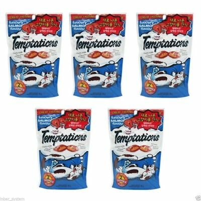 Whiskas Temptations Treats for Cats 5 Pack of Savoury Salmon 425g