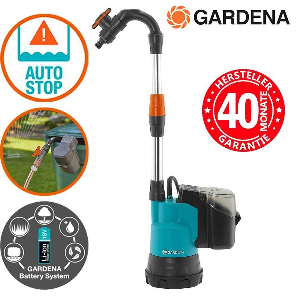 Gardena Tauchpumpe Li-Ion Akku Regenfasspumpe Gartenpumpe Fasspumpe Pumpe Wasser