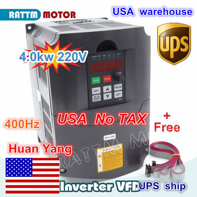 Usa 4kw 5hp Vfd Variable Frequency Inverter Drive 220v 3ph 18a For Cnc Router