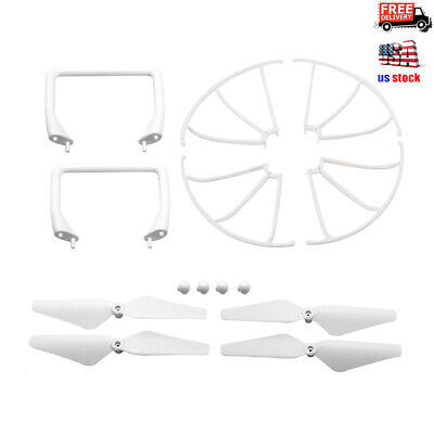 Replacement Parts Set Propellers Guards Landing Gear for Cheerwing CW4 RC Drone ()