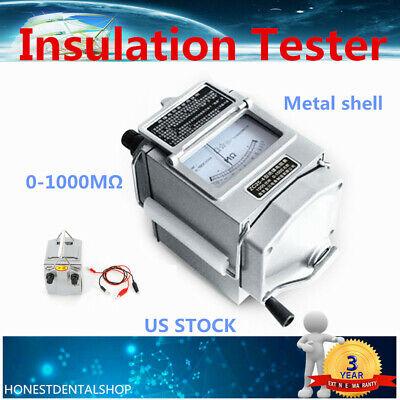 1000m 1000v 120 Rpm Megger Meter Megohmmeter Insulation Tester Resistance Meter