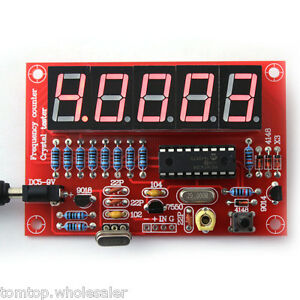 1Hz-50MHz Crystal Oscillator Frequency Counter Tester DIY Kit 5Digits Resolution