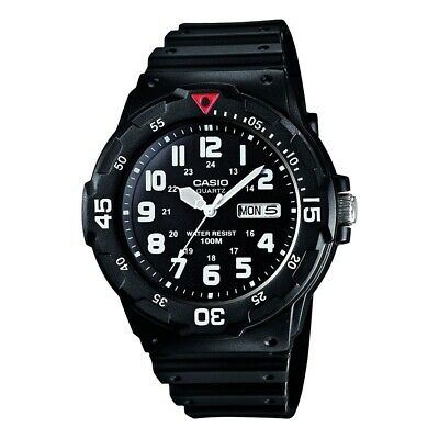 "Casio Sports 100M Quartz Watch""Neo-Display"" Black Unisex Watch Model MRW200H-2BV"