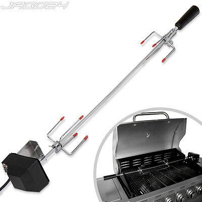verchromter Drehspieß Grillspieß für Gasgrill Grill mit Motor 220V-240V BBQ