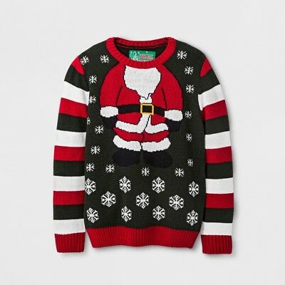 Boys' Santa Suit Evergreen Ugly Christmas Sweater Pullover, Size 4/5             - Boys Santa Suit