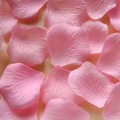 150 Pink Flower Rose Petals, We Support Cancer Patients party Decorations (Pink Flower Petals)