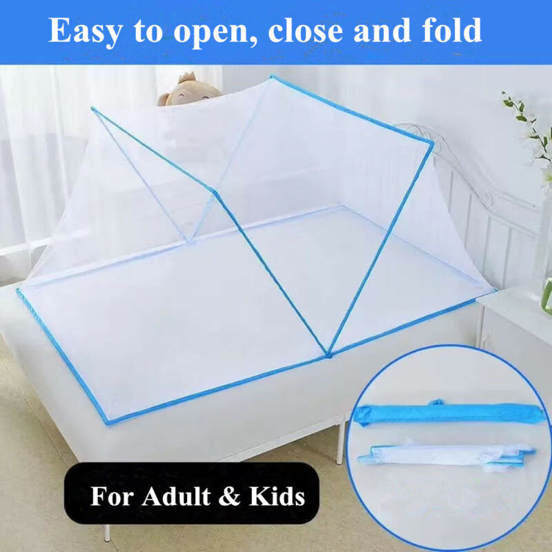 Adult Kids Bed Mosquito Net Portable Foldable Polyester Mesh Sleep Travel Tent