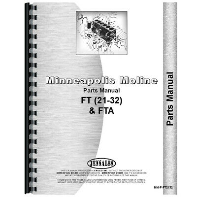 New Parts Manual Made For Minneapolis Moline Tractor Models Ft Fta
