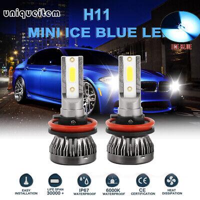 Blue Led Replacement Bulb - Mini H8 H9 H11 8000K ICE Blue LED Headlight Kits Bulbs 100W 20000LM Hi-Low Beam