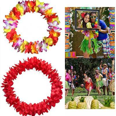 Woman Hawaiian Leis Necklace Tropical Luau Hawaii Silk Flower Wreath Party Girl - Flower Necklace Hawaii