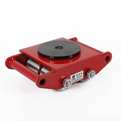 Red Heavy Machine Dolly Skate Roller Machinery Mover 360 Degree Rotation Ups