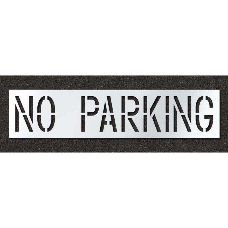 Pavement Stencil,No Parking,18 in STL-116-71832