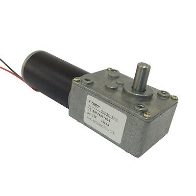 Reversible Electrical Dc 12v Worm Gear Motor 12rpm With Self-locking For Robot