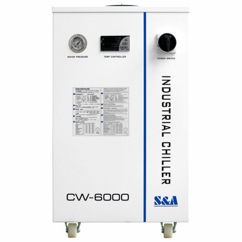 US Stock S&A CW6000DN Industrial Water Chiller for 100W Solid-state Laser