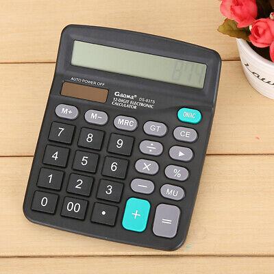 12Digit LCD Electronic Calculator Business Office Desktop Calculator Solor&Batte