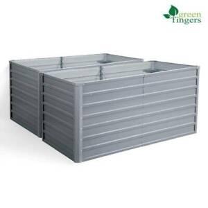 Greenfingers garden bed galvanised steel raised planter 320x80x77cm