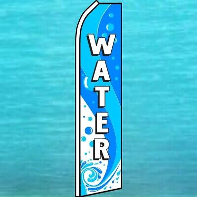 Water Flutter Flag Feather Tall Curved Top Advertising Wind Sign Swooper Banner