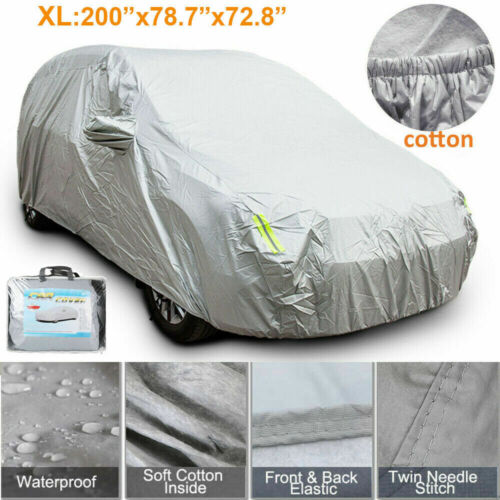 Car Parts - 2 Layer Heavy Duty Waterproof Car Cover Cotton Lining Scratch Proof Large XL