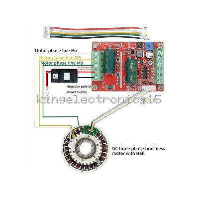 400w 6-60v Bldc 3 Phase Dc Brushless Motor Controller Pwm Hall Motor Control