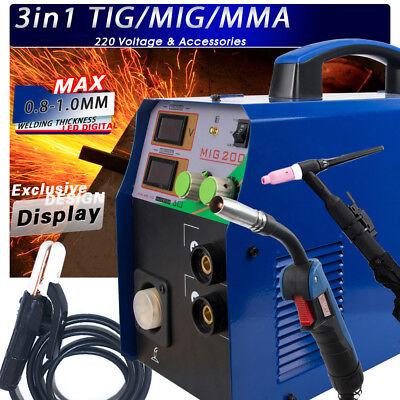 Tigmma Mig Welder - Mig200 3 In 1 Combo Multi-function Welding Machine 220v