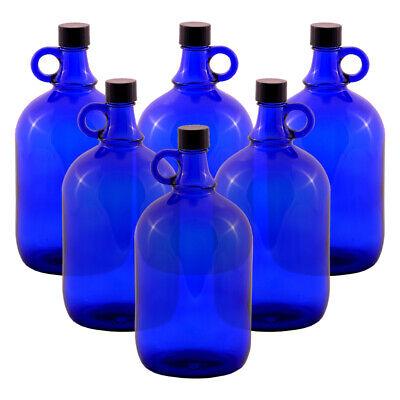6 Unidad Globo de Cristal Botella 2 Litros Azul - Galón Damajuana...