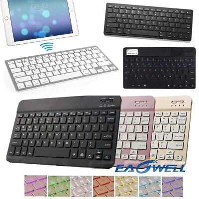 """Slim Bluetooth Keyboard For iPad 2 3 4 5 6th 7th Gen 10.2 Mini Air Pro 10.5"""" 11"""""""