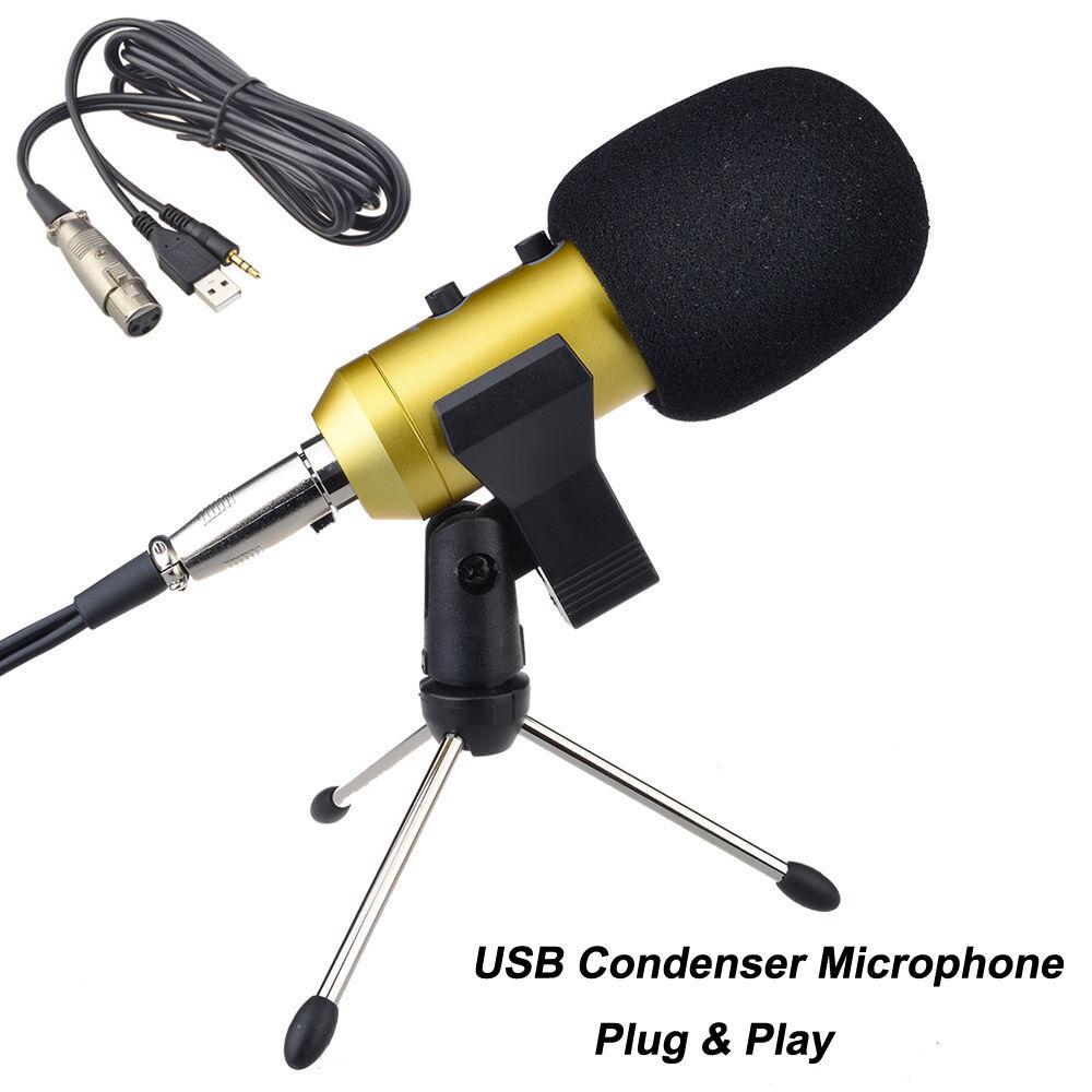 Computer USB Studio Condenser Microphone Cardioid ...
