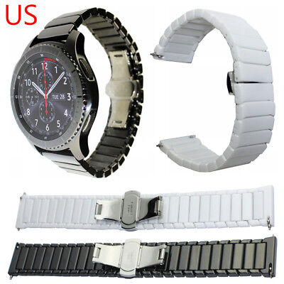 Butterfly Clasp Ceramic Strap Watch Band For Samsung Gear S3 Frontier S3 Classic - Ceramic Butterfly