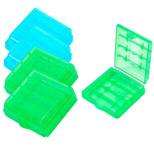 Plastic Practical Cover Hot Sale Case Holder AA AAA Battery Storage Box 4 Pcs