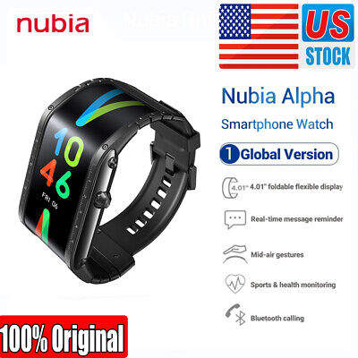"Original ZTE Nubia Alpha 4"" Flexible Curved Screen Wrist Mobile Smartphone Watch"